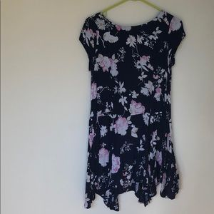 Dark Blue Floral Urban Outfitters Dress